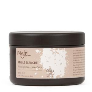 Argile blanche kaolin certifié Cosmos Natural NAJEL 90 g peaux sèches et sensibles