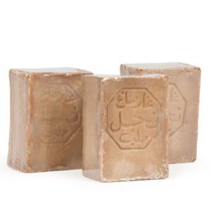 Lot de 3 savons d'Alep 3% HBL 150 g tous types de peaux
