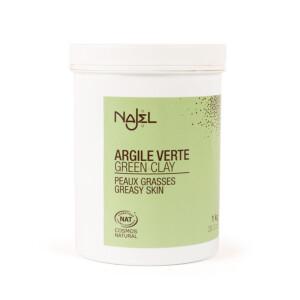 Argile verte certifiée Cosmos Natural 1 kg peaux grasses