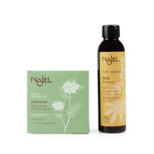 savon d'Alep à l'huile de Nigelle NAJEL Huile de ricin NAJEL
