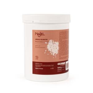 Argile blanche kaolin certifié Cosmos Natural NAJEL 500 g peaux sèches et sensibles