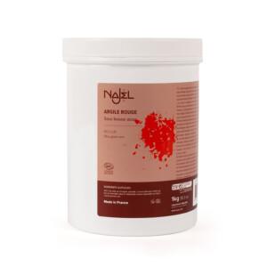 Argile rouge certifiée Cosmos Natural NAJEL 1 kg soin bonne mine