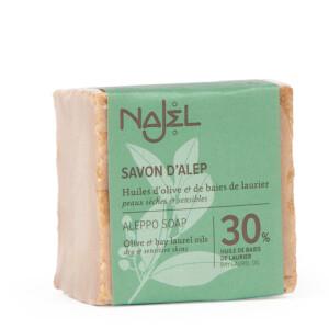 Savon d'Alep 30% HBL NAJEL 200 g peaux sèches et sensibles