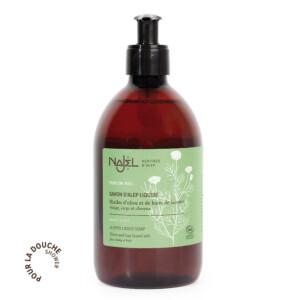 najel-savon-alep-liquide-parfum miel-500ml-Cosmos-Organic copie