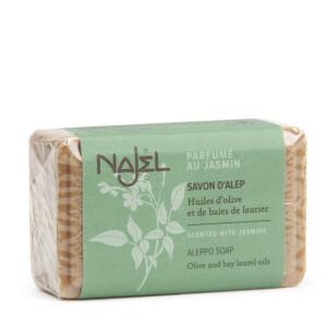 Savonnette d'Alep parfumée au jasmin NAJEL 100 g doux