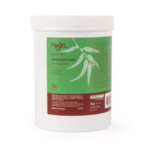 Savon noir d'Alep à l'huile essentielle d'eucalyptus 1 kg gommage corps